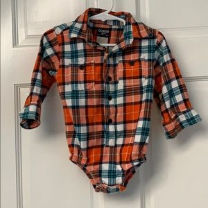 18 Months Flannel Thanksgiving Fall Orange